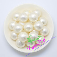 Hot Sell Free Shipping 110pcs Lot 20mm Ivory Winkle Beads Chunky Pearl Bead ABS Pearl For