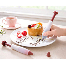 Silicone Rubber High Quality Dessert Cake Cookie Decoration Colorful Decorating Pen Set Syringe Cylinder Tools