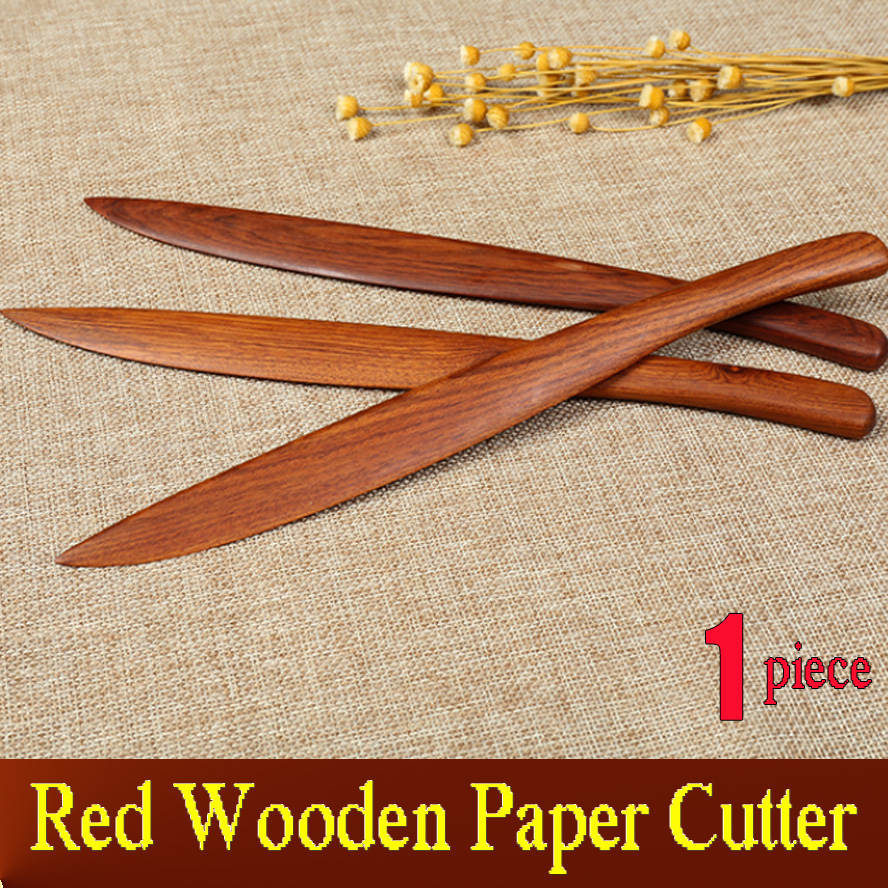 Red wooden Paper Cutter for Rice Paper Xuan Paper Knife Letter Opener Painting Calligraphy Art Supplies fastnet force 10 rei paper only