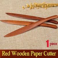 Red wooden Paper Cutter for Rice Paper Xuan Paper Knife Letter Opener Painting Calligraphy Art Supplies