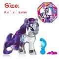 10.5 CM mi arco iris juguetes caballo hermoso y cristalino alas flash chip en la mano para hacer juguetes para niños mayores de 3 años de edad modelo