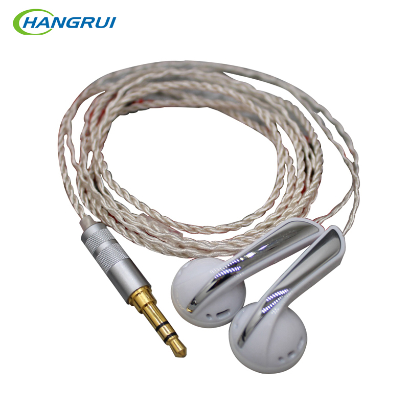 Hangrui DIY In Ear Earphone Graphene Earplug Earphones Bass Earbud With Silver Plated Cable HIFI Earbuds MX760 For Smart Phones 2016 senfer 4in1 ba with dd in ear earphone mmcx headset with upgrade cable silver cable hifi earbuds