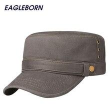 2019 Tactical Cap Army Hat 100% Cotton Unisex Flat Roof Trucker Hats For Men Women Snapback Bone Brand Gorroas Casquette Cheapu