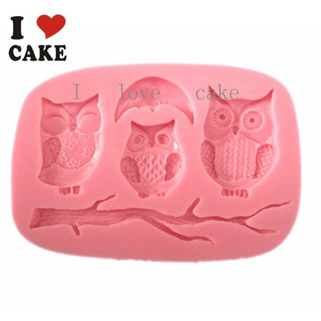 Fa854 Owl Silicone Cake Mold Cupcake Cocina Molde De Silicone Wilton