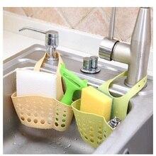 Sink Shelf Soap Sponge Drain Rack Snap-On Basket Organizer Bathroom Kitchen Cleaning Ball Dish Towel Storage