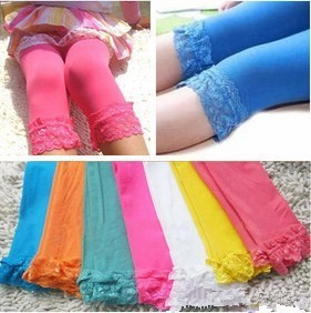Wholesale 30pcs lot Baby Kids Candy Color Lace Leggings Girl Fashion Summer Cute Dress Atwt0006