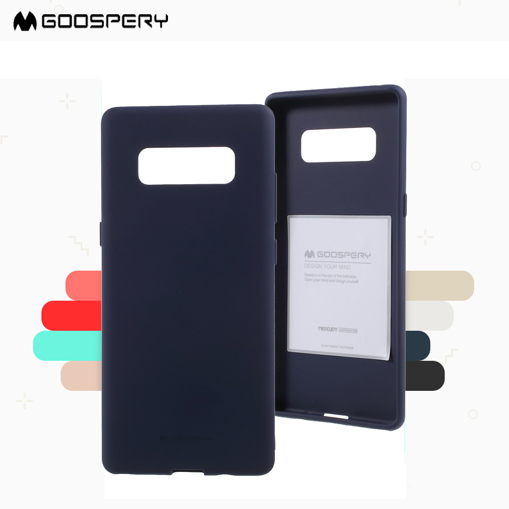 New For Samsung Note8 Phone Case Goospery Soft Feeling Iphone X Jelly Mint Matte Tpu Back Galaxy Note 8 Shell Capa In Half Wrapped From