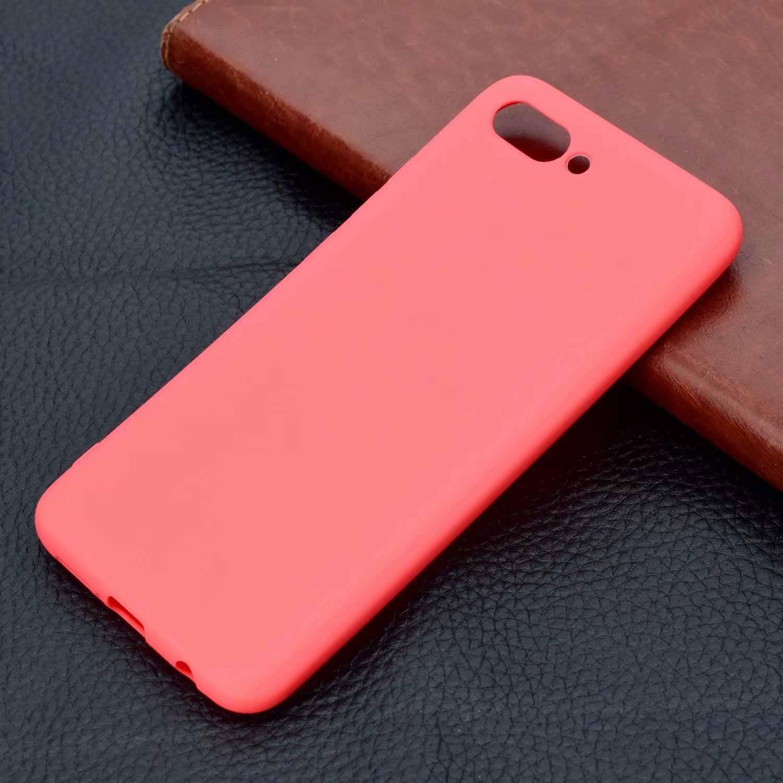 Ultra delgado Color caramelo suave caso de Huawei P10 P20 P9 P8 Lite 2017 Y3 Y5 Honor 6A 7A 7C mate 9 10 Lite Pro Nova P cubierta inteligente