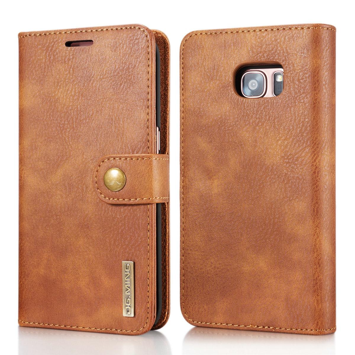 DG. ming Пояса из натуральной кожи чехол для Samsung Galaxy S7/S7 Edge флип Магнитная крышка бумажник телефон сумка 2 в 1 съемная телефон Коке