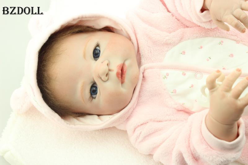 22 Full Silicone Vinyl Reborn Baby Doll Toys, Play House Reborn Girl Boy Baby Lovely Brithday Christmas Gift Girls Brinquedos22 Full Silicone Vinyl Reborn Baby Doll Toys, Play House Reborn Girl Boy Baby Lovely Brithday Christmas Gift Girls Brinquedos