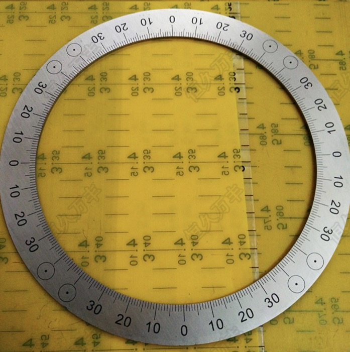 Diameter:200mm Inner d:160mm thickness:2mm Stainless steel disc 4 equal division dial special