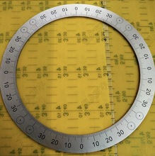 Diameter:200mm Inner d:160mm thickness:2mm Stainless steel disc 4 equal division dial special dial radio dial double potentiometer b20k diameter 18mmx2mm
