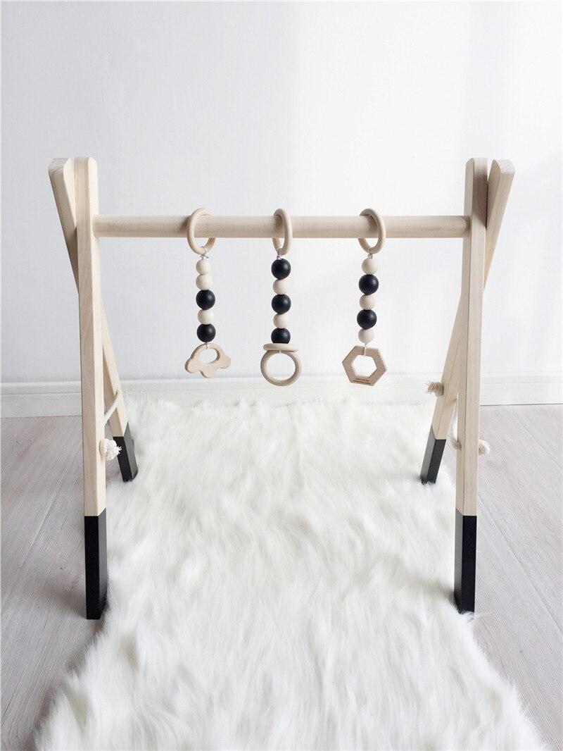 Bois bébé Gym sans Gym jouets activité Gym jouet accessoires Montessori hochets décor pépinière jouets sensoriels nouveau-né douche cadeaux