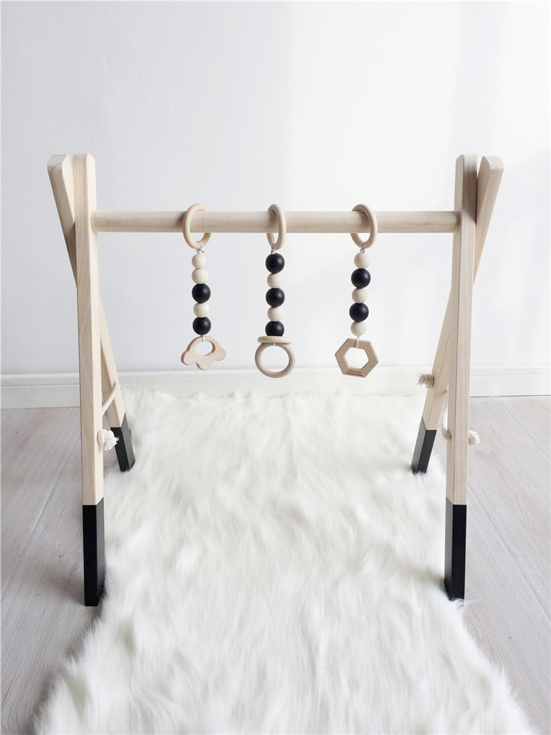 Wooden Baby Gym Without Gym Toys Activity Gym Toy Accessories Montessori Rattles Nursery Decor Sensory Toys Newborn Shower Gifts