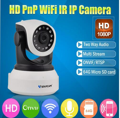 VStarcam C24S HD 1080P Wifi IP Camera use Free App CCTV 2MP Wifi camera Support 128GB card Wireless Night Vision P2P Onvif стоимость