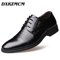 2016 Genuine Leather Men Oxford Shoes Lace Up Business Men Shoes Brand Men Oxford High Quality