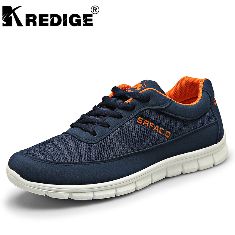 KREDIGE Breathable Air Mesh Casual Shoes Mens Slip-On Hard-Wearing Soles Light Leisure Shoes Non-Slip Big Size Men Shoes 39-44 kredige anti odor zip tide leather shoes hard wearing mens casual shoes pu breathable waterproof plate shoes british style 39 44