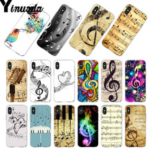 Yinuoda For iphone 7 6 X Case old musical note Music Phone for iPhone 8 6S Plus 5S SE 5C 4S XS MAX XR