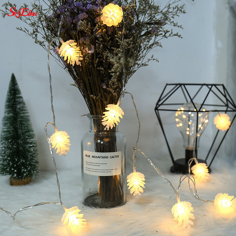 1.5M christmas lights outdoor decoration Pine cone light ...