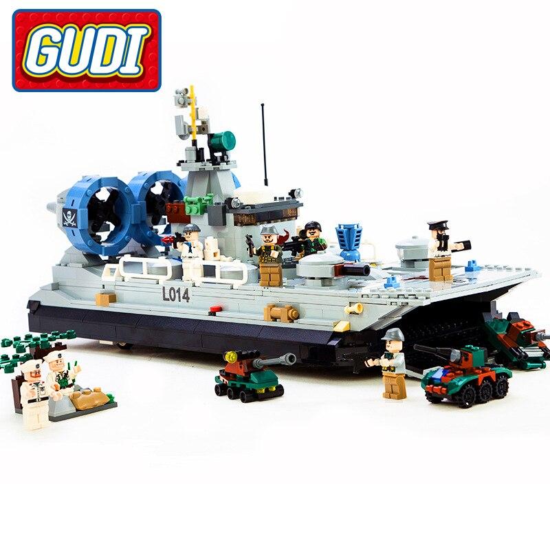Гуди военные Cops на воздушной подушке блоки 928 шт. кирпичи Building Block игрушки подарок на день рождения игрушки для детей совместимы с Legoingly