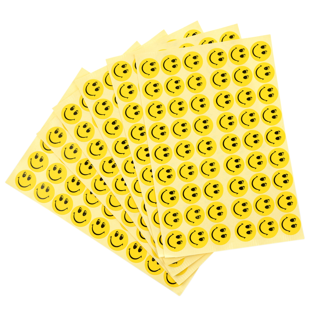 6 Cute Smiley Smile Face Children Reward Merit Praise Stickers for School party new cute head portrait sticker smiling face interesting smile face stickers children kids toy for phone notebook message twitter