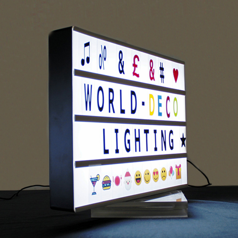 2019 hot sale A3 Cinematic advertising letter light box with 100 Letters Battery & power Operated