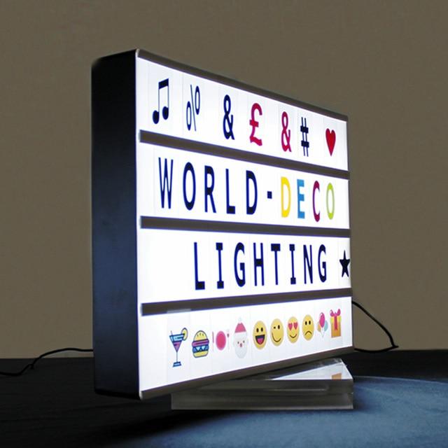 Letter Light Boxes.Us 36 8 2019 Hot Sale A3 Cinematic Advertising Letter Light Box With 100 Letters Battery Power Operated In Advertising Lights From Lights