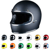 LDMET thompson motorcycle helmet cascos para moto full face casco moto vintage jet capacetes de motociclista off road