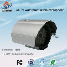SIZHENG audio surveilance microphone mini outdoor waterproof sensitivity sound monitor device for CCTV