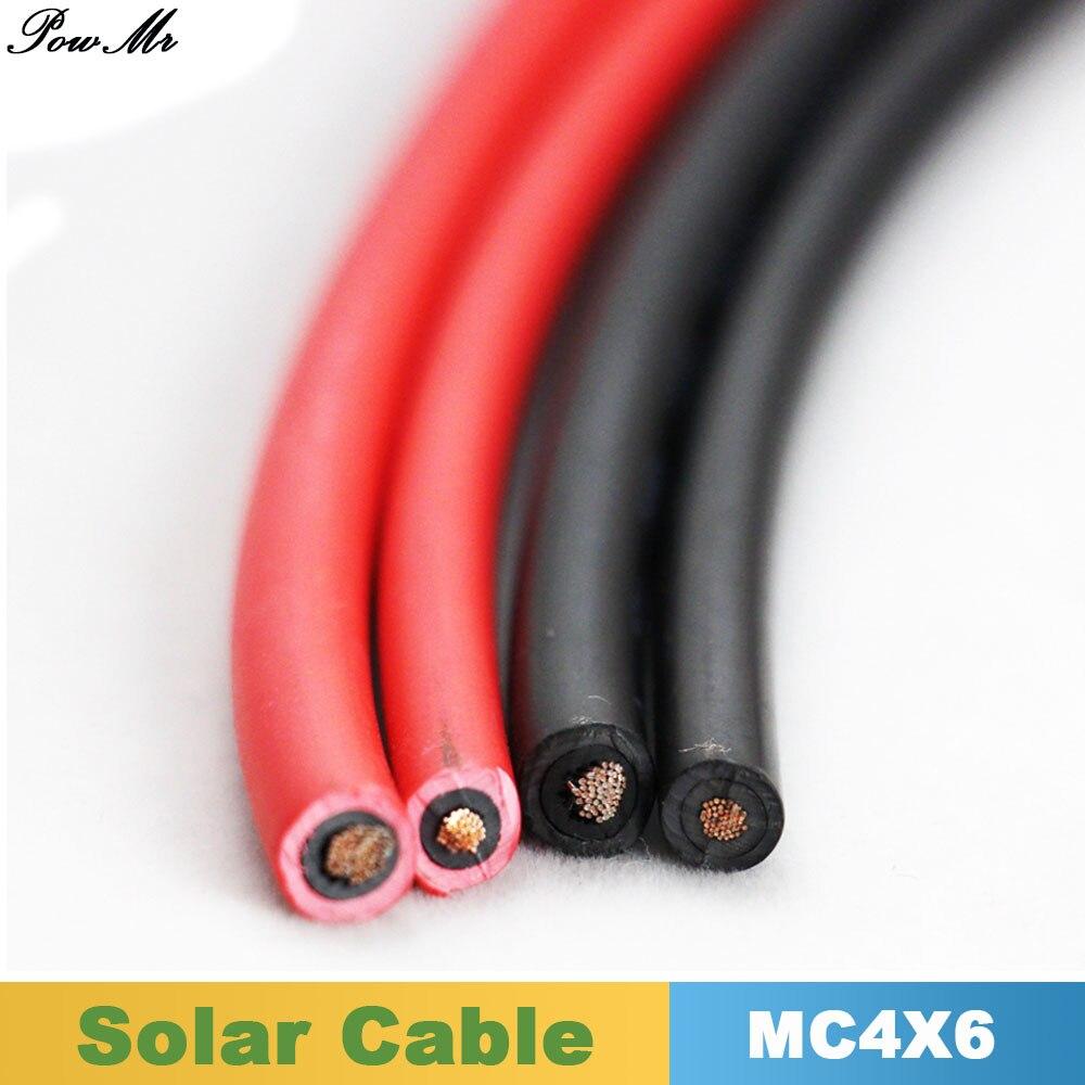 PowMr 5 Meter Rot oder Schwarz Solar PV Kabel 6mm2 für MC4/MC3 ...