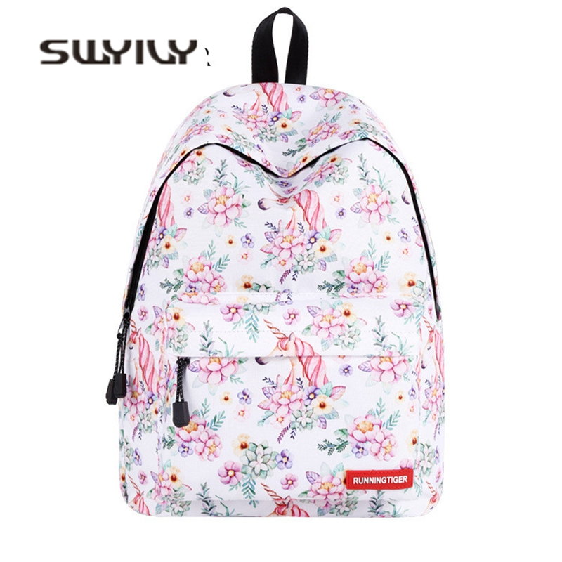 SWYIVY Womens Backpacks Shoulder Bag Unicorn 2018 Spirng New Student School Bag Fashion Girl Backbag Travel Womans Bag