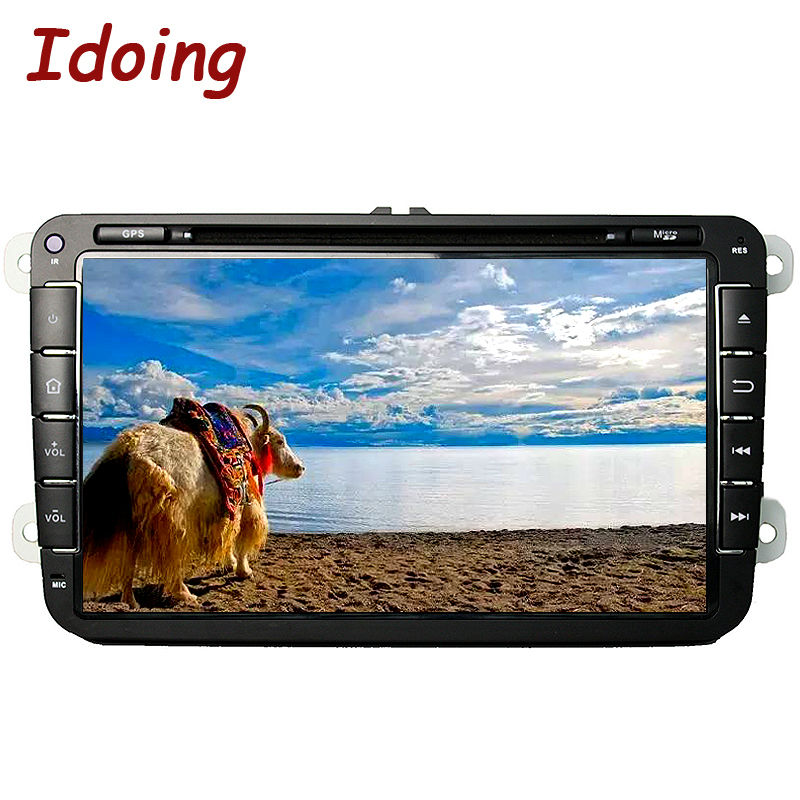 Idoing 2Din GPS Autoradio 1024 600 Quad Core Android5 1 Car DVD GPS Navigation For VW
