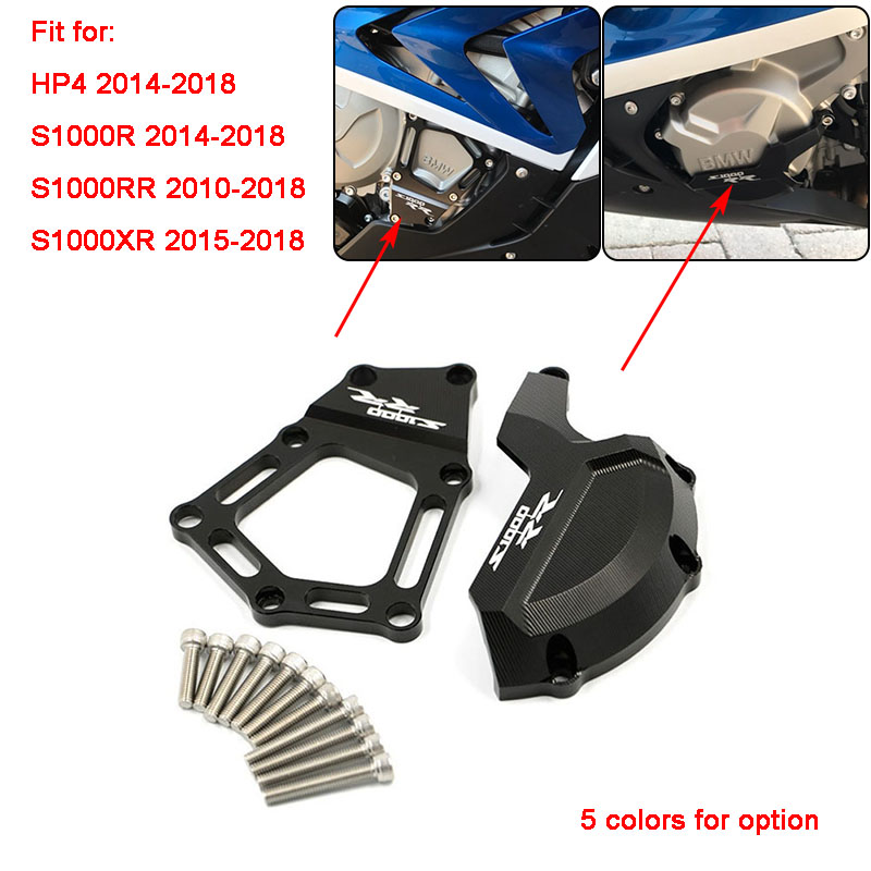 Cover Crash-Protector Engine S1000XR Motorcycle HP4 Guard Saver RR CNC For BMW Stator-Case