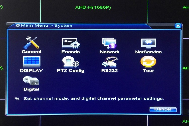 1080P 16CH  16 Channels operation interface picture