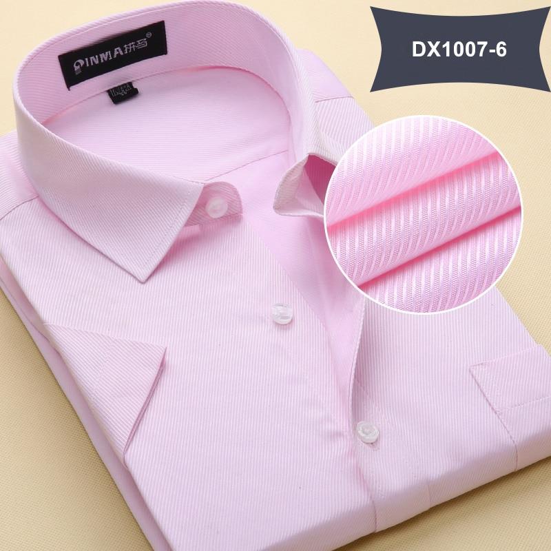Летняя Стильная мужская одежда, мужская повседневная рубашка с коротким рукавом и отложным воротником, мужские рубашки, одноцветные рубашки для мужчин - Цвет: DX10076