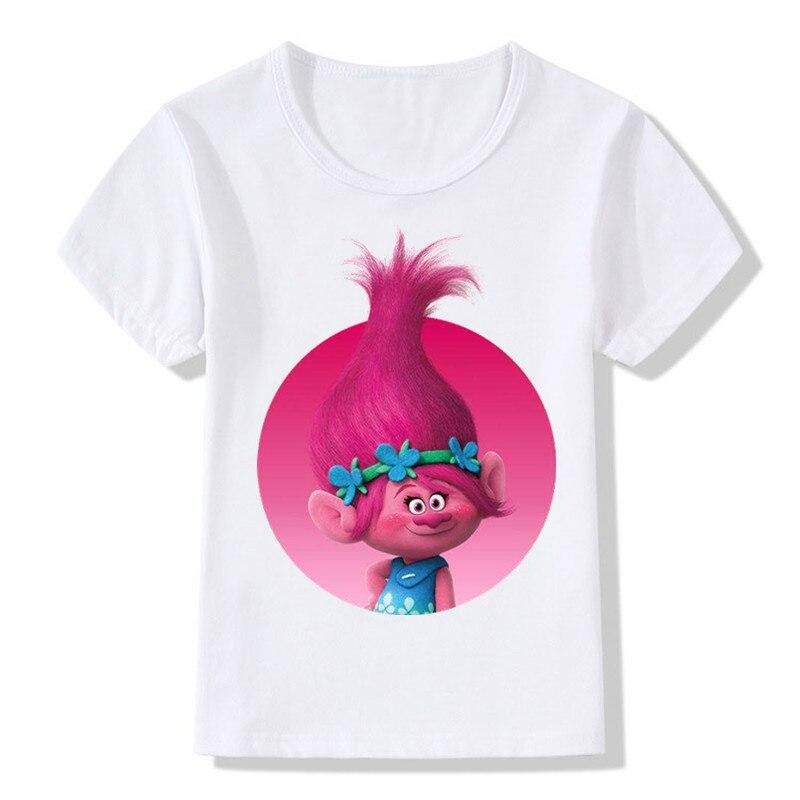 2019 Children Cartoon Trolls Print Funny T-Shirts Kids Summer Tops Boys/Girls Short Sleeve Clothes Casual Baby Tee Shirt,ooo2174