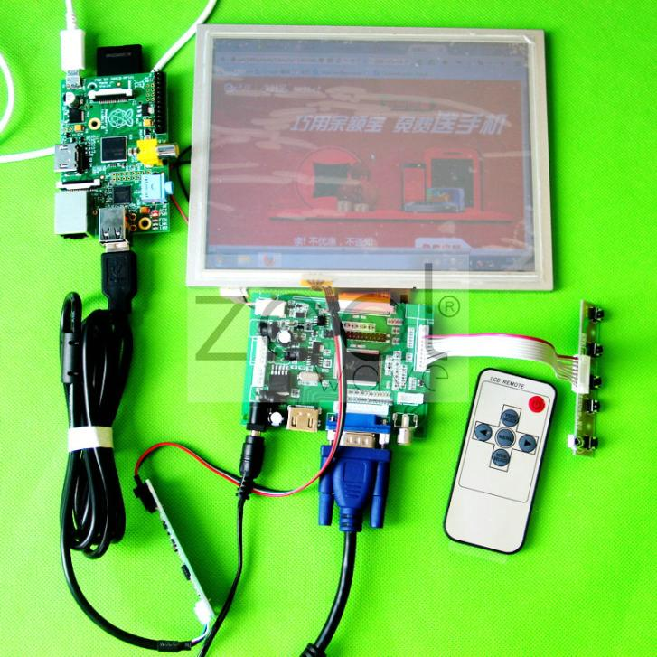 HDMI+VGA +AV of LCD driver board+ AT080TN52 800*600+Remote Control And Receiver +OSD Keypad With Cable+ Touch Panel