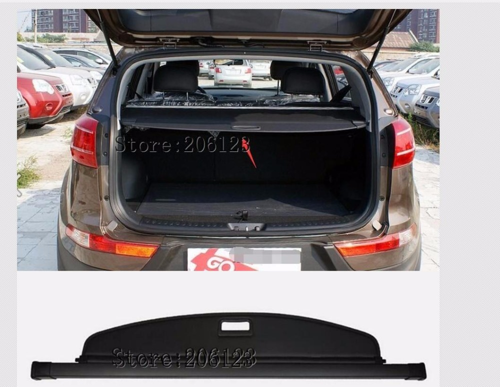 Car Styling Auto Retractable Rear Trunk Security Cargo Cover Security Shield For Kia Sportage 2010 2011 2012 2013 2014 2015 купить недорого в Москве