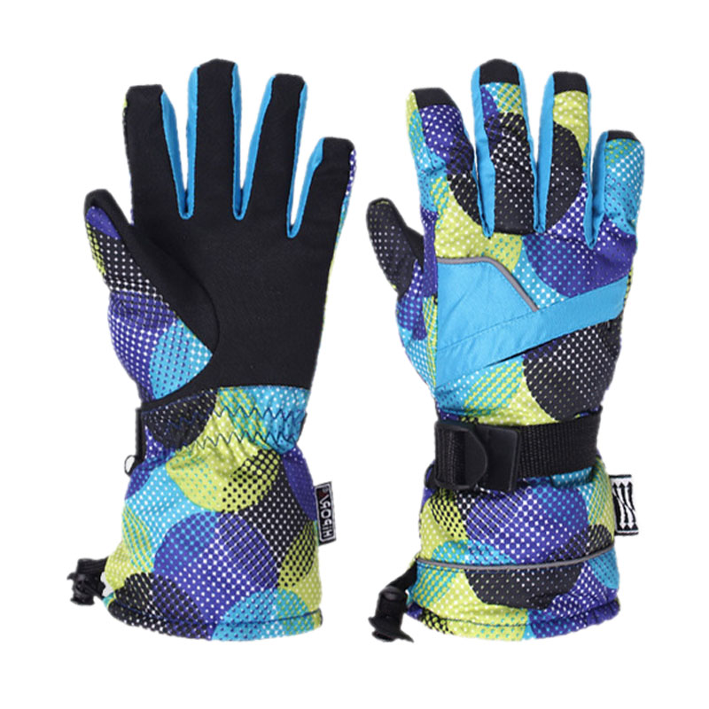 Winter Women Top Quality Skiing Gloves Thicken Warm Windproof Snow Ski Gloves Snowboard Cycling Motorcycle Snowmobile Gloves