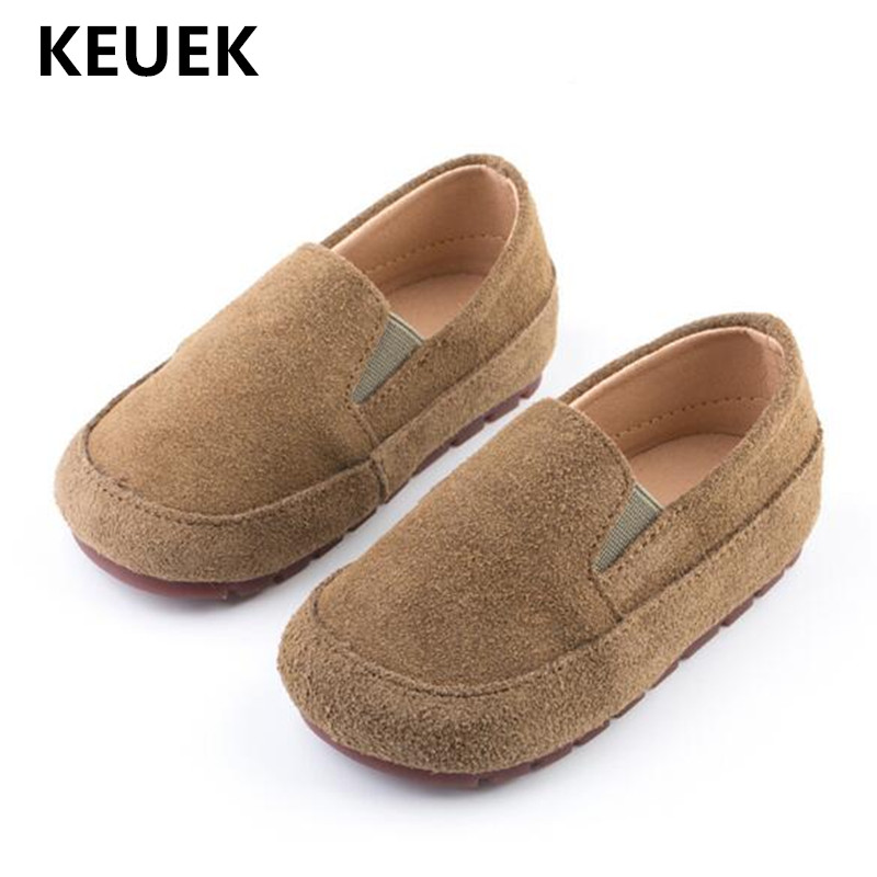 New Children Shoes Baby Toddler Breathable Soft Bottom Flats Genuine Leather Student British Style Loafers Boys Shoes Kids 02