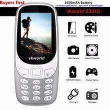 Original Vkworld Z3310 3D Bildschirm 2,4 zoll LED-Licht Handys Lautsprecher FM Radio 2MP Dual SIM 1450 mAh batterie handy