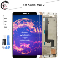 6.44 LCD For Xiaomi Mi Max 2 max2 Full LCD Display Screen Touch Panel Digitizer Assembly With Frame for Mi max 2 only Touch