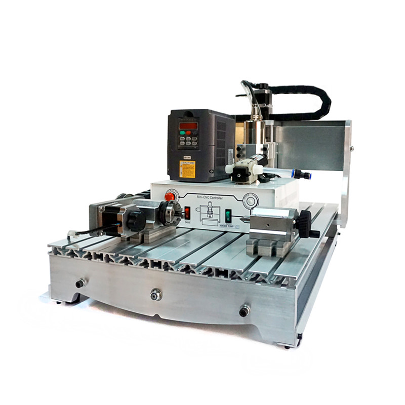 4axis cnc router 6040 800W water cooled spindle cnc Milling Cutting machine 4 axis cnc router 6040 2200w water cooled cnc spindle mini metal woodworking cutting machine