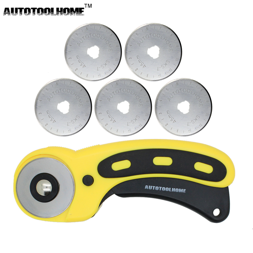 Buy new 45mm rotary cutter set 5pcs for Craft vinyl cutter reviews