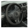for Sandwich Fabric Handmade Steering Wheel Cover Breathability Skidproof Universal Fits Most Car Styling Steering Blue/Black#