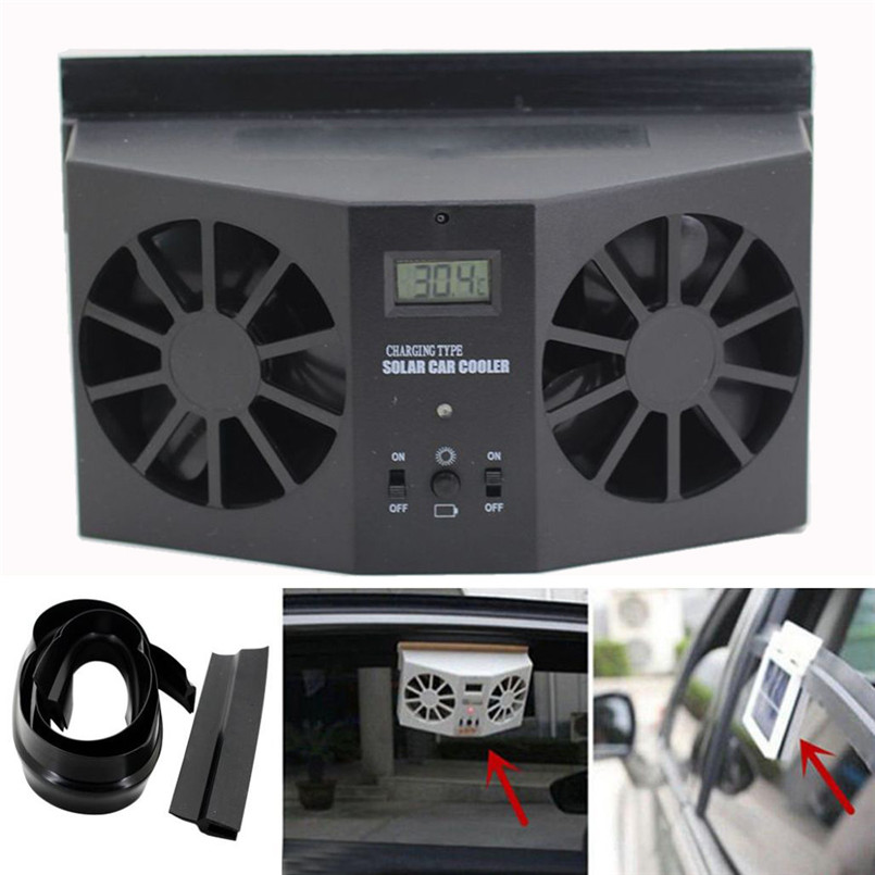 solar powered car window air vent ventilator mini air. Black Bedroom Furniture Sets. Home Design Ideas