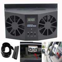 Solar Powered Car Window Air Vent Ventilator Mini Air Conditioner Cool Fan NEW BK Car Accessories