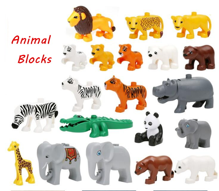 2017 NEW Building Large Particles Blocks Toys Animals DIY The Zoo Set Brick Set Enlighten Child Gift Compatible with Legoe Duplo free shipping the tian an men diy enlighten block bricks compatible with other assembles particles