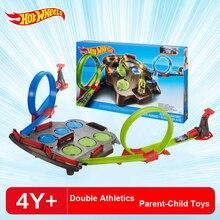 Hotwheels Rebound Raceway двойная Атлетическая гоночная игрушка Hot wheels обучающая игрушка для мальчика подарок на день рождения Рождество FDF27