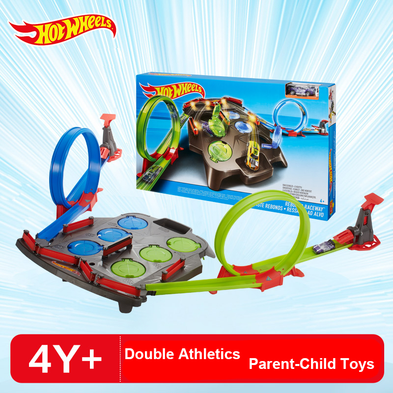 Hotwheels Rebound Raceway Double Athletics Track Racing Toy Hot wheels Boy Educational Car Toy Birthday Christmas Gift FDF27